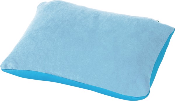 Suede travel pillow - Grey
