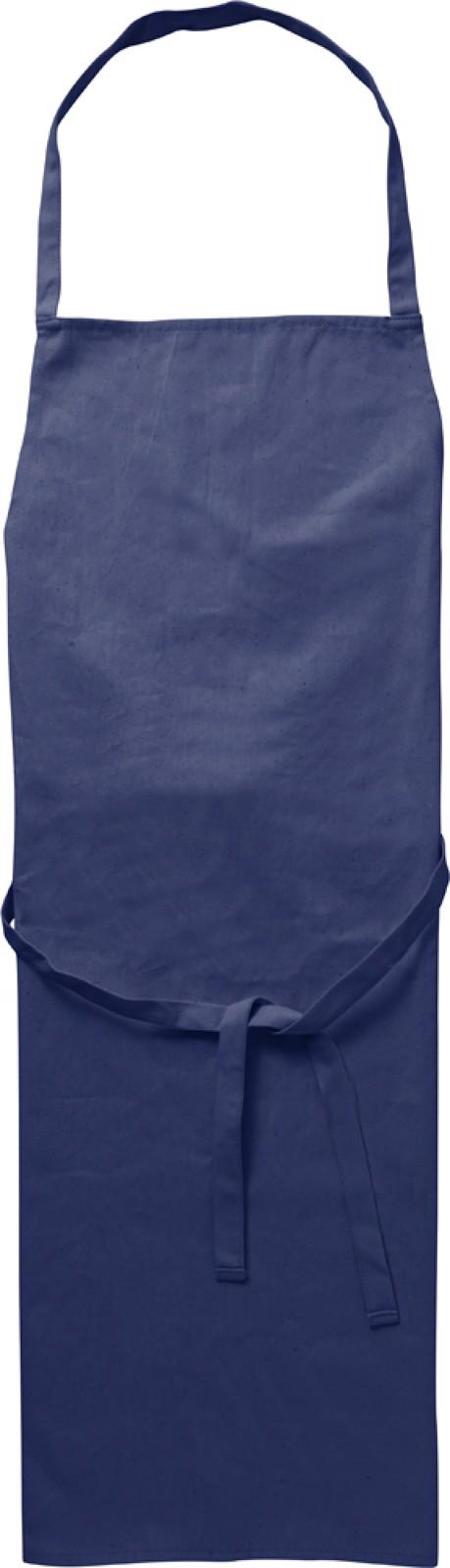 Cotton (180 gr/m²) apron - Blue