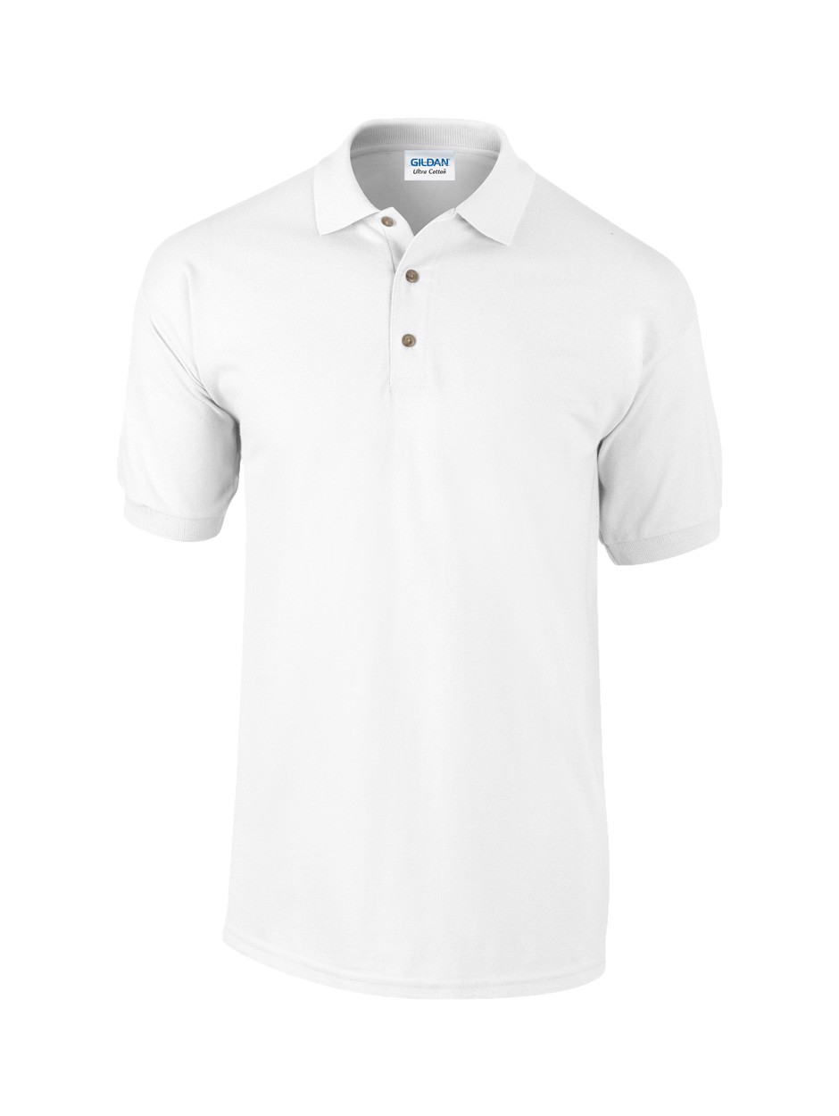 Pique Polo Shirt Ultra Cotton - White / L