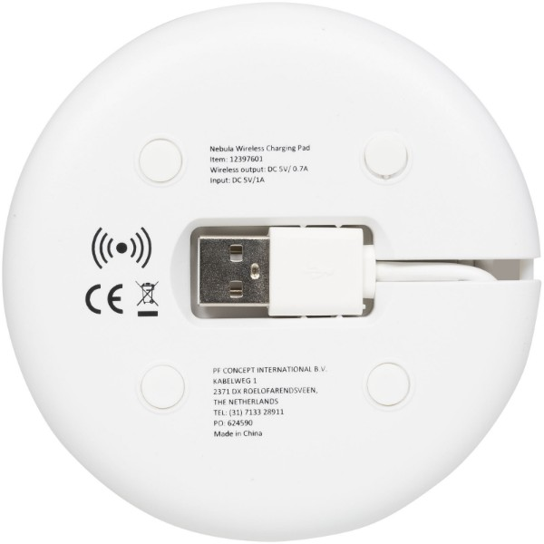 Nebula wireless charging pad with 2-in-1 cable - White