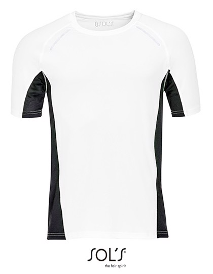 Men`S Short Sleeve Running T-Shirt Sydney - White / 3XL