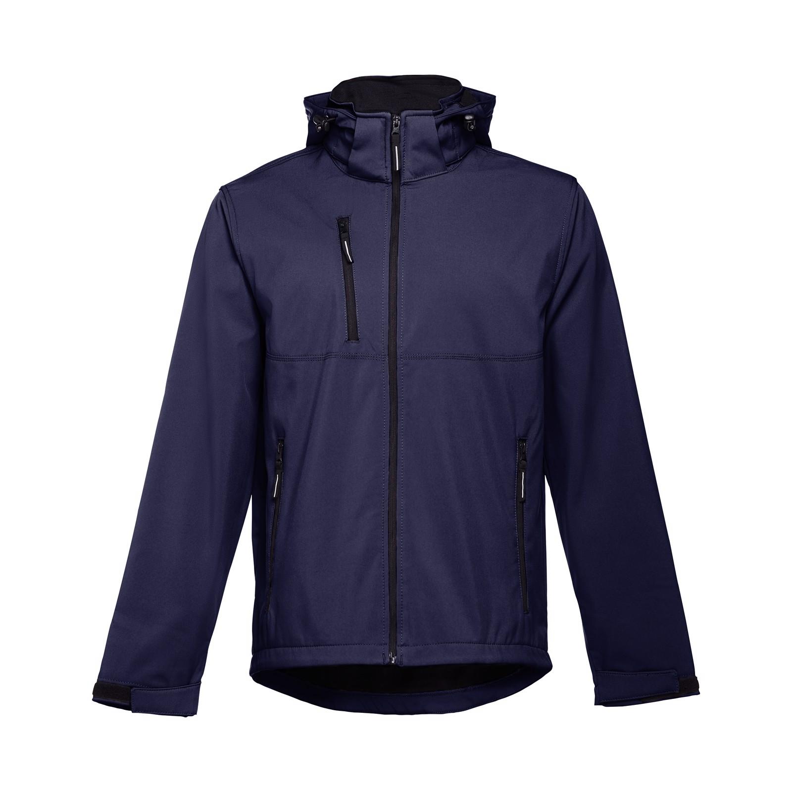 THC ZAGREB. Pánská softshellová bunda se snímatelnou kapucí - Námořnická Modrá / S