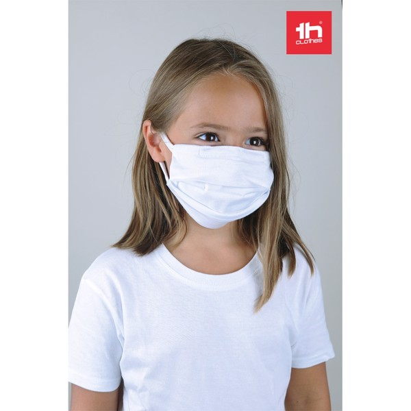 THC ATLANTIDA KIDS. Reusable textile mask for kids - White