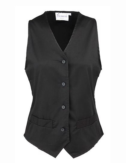 Ladies` Hospitality Waistcoat - Black / XXL