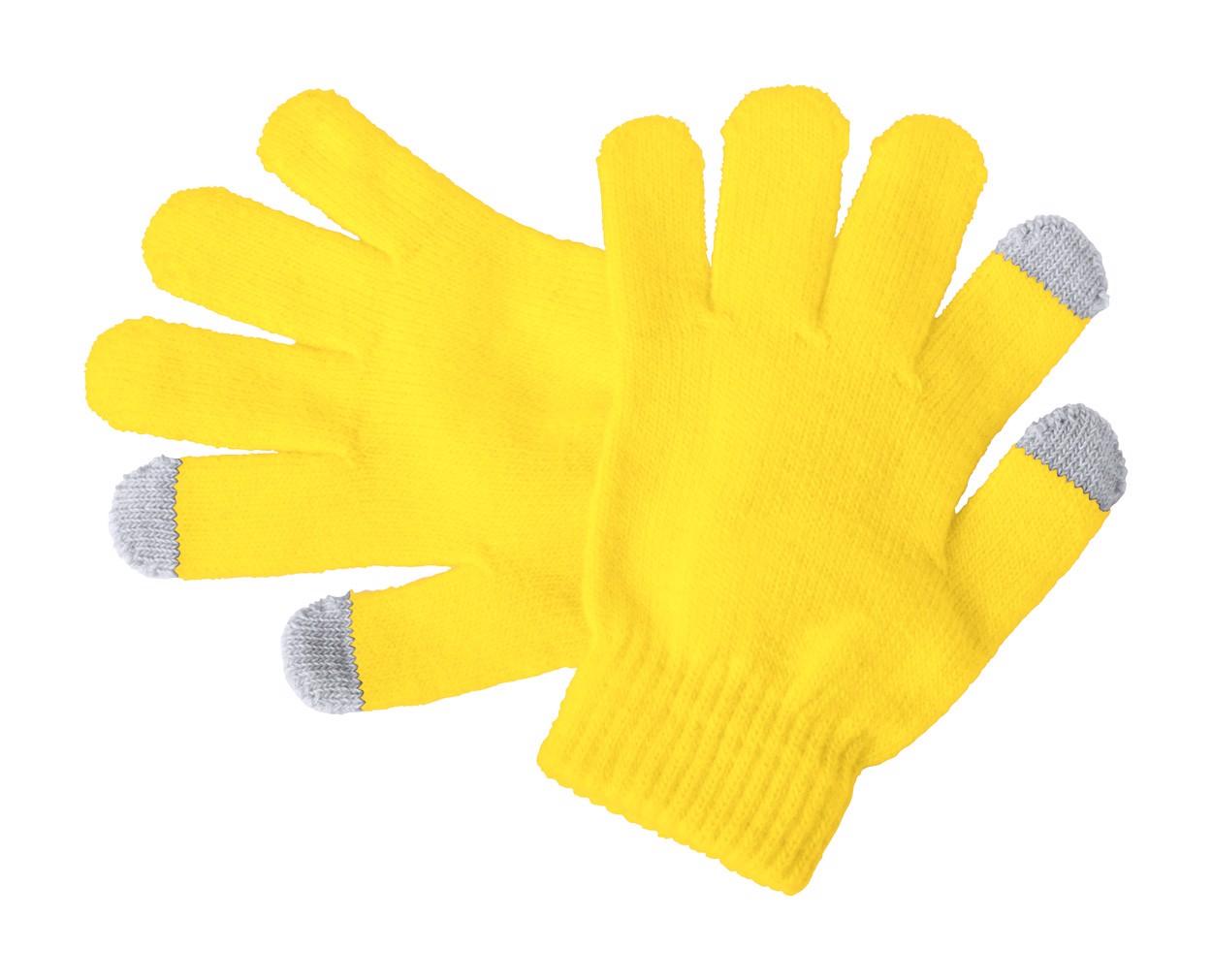 Dotykové Rukavice Pro Děti Pigun - Žlutá / Šedá