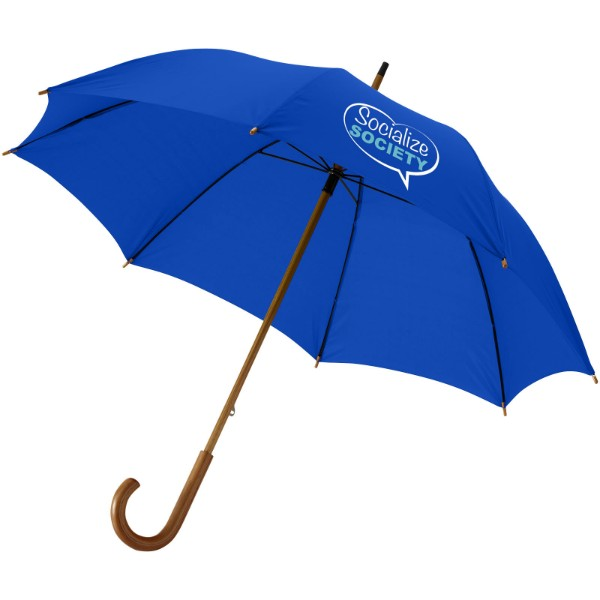 "Jova 23"" umbrella with wooden shaft and handle - Royal blue"