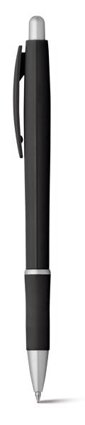 OCTAVIO. Kuličkové pero s protikluzovým gripem - Černá