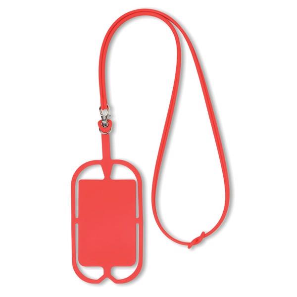 Silicone smartphone hanger Silihanger - Red