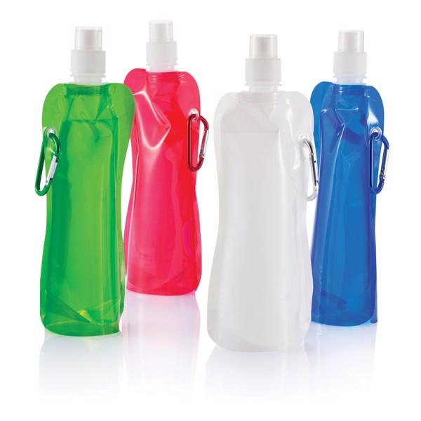 Összehajtható vizespalack - Piros / Fehér