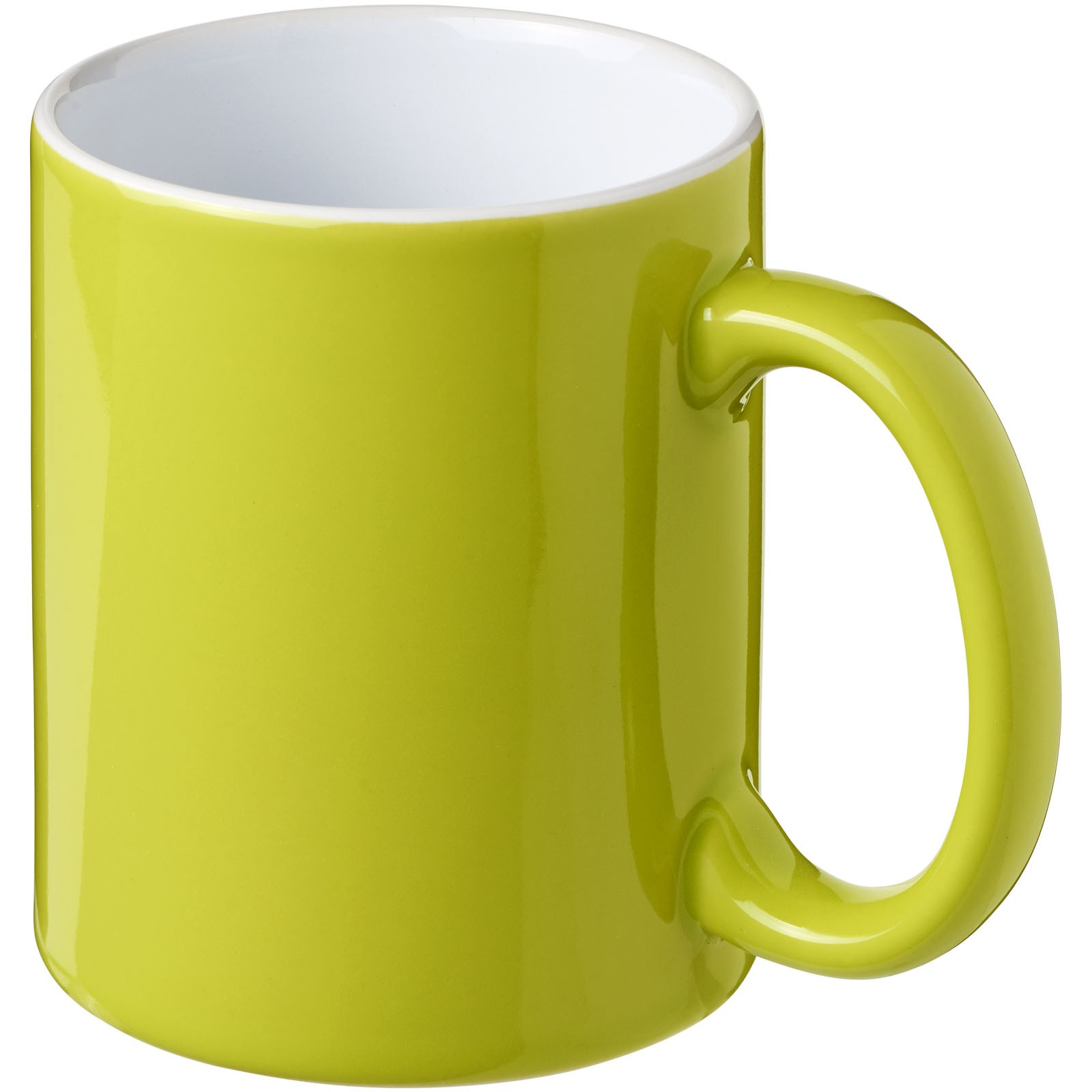 Java 330 ml ceramic mug - Lime / White