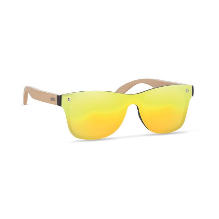 Sunglasses with mirrored lens Aloha - Yellow