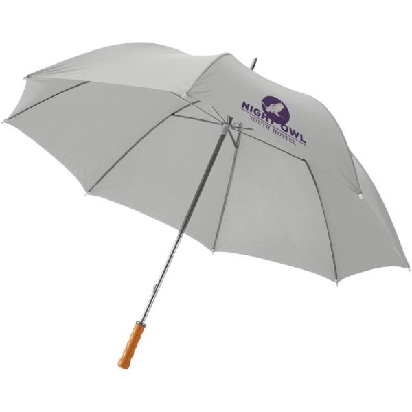 """30"""" golfový deštník Karl s dřevěnou rukojetí - Větle šedá"""
