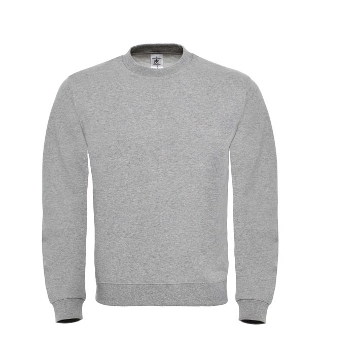 Cotton Rich Sweatshirt Id.002 Cotton Rich Sweatshirt - Grey Heather / L