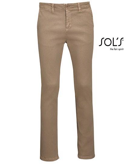 Men`S Chino Trousers Jules - Length 35 - Chestnut / 56