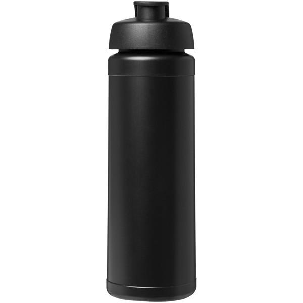 Baseline® Plus 750 ml flip lid sport bottle - Solid black