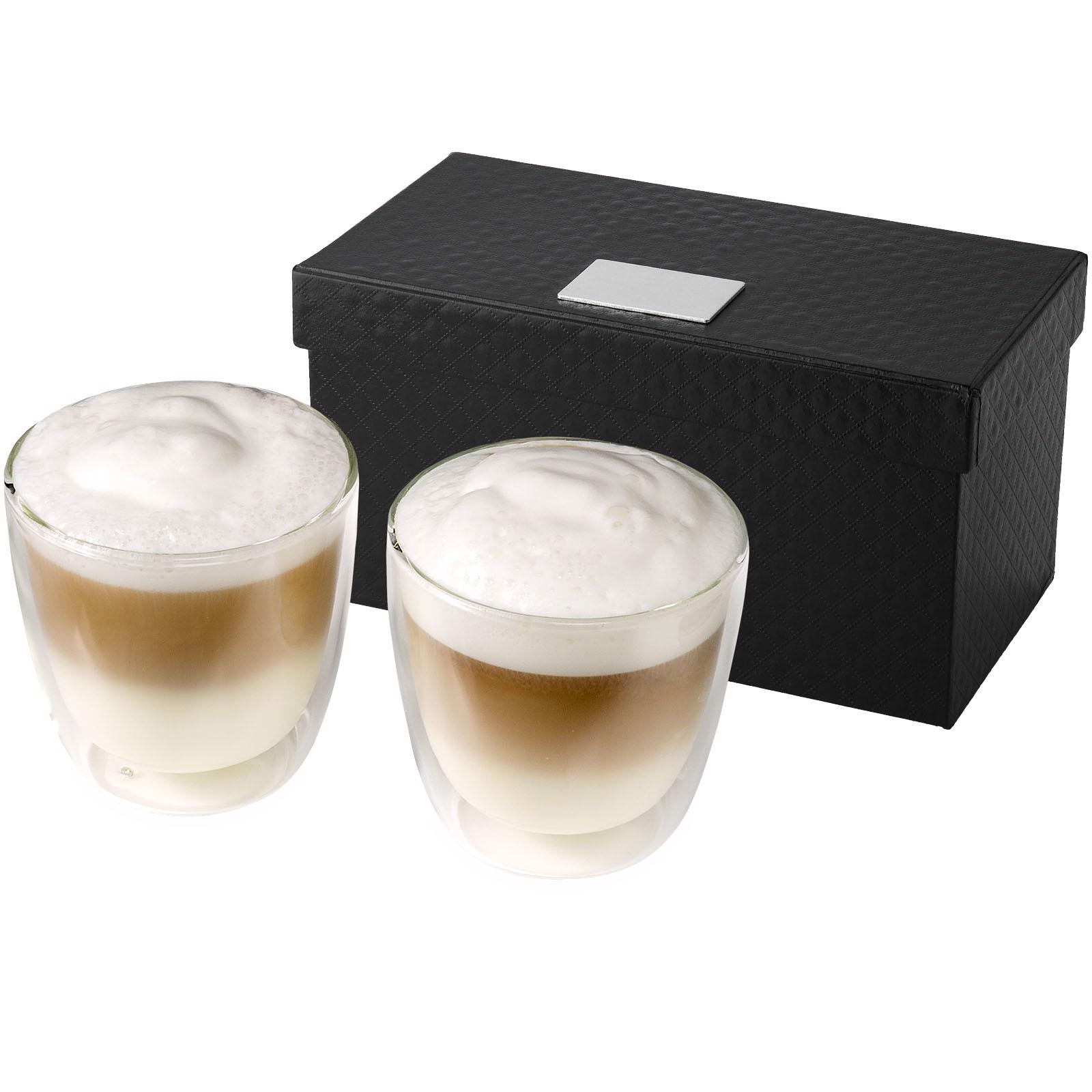 """Set de 2 tazas de café de cristal """"Boda"""""""
