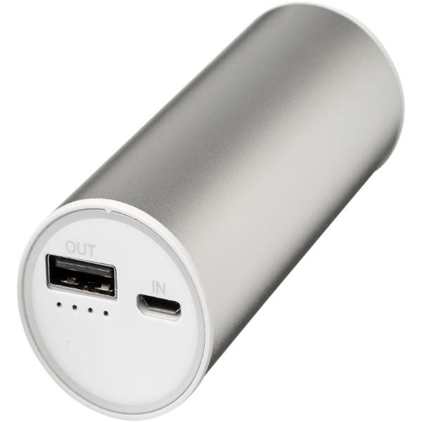 Bliz 6000 mAh Powerbank mit 2-in-1-Kabel - Silber