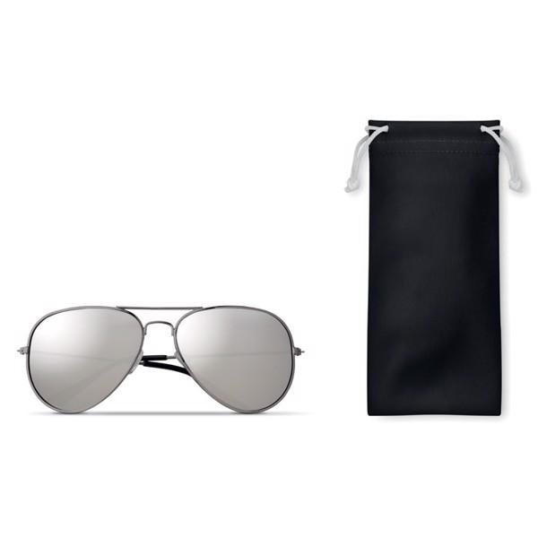 Sonnenbrille im Brillenbeutel Malibu - schwarz
