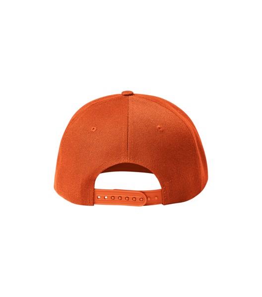 Čepice unisex Malfini Rap 6P - Oranžová / nastavitelná