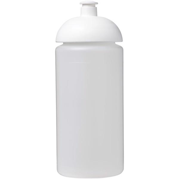 Sportovní láhev s kupolovitým víčkem Baseline® Plus grip 500 ml - Průhledná / Bílá
