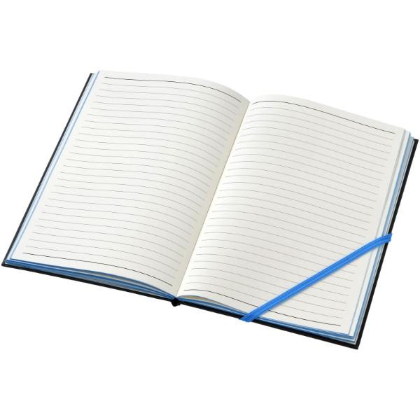 Zápisník s pevnou obálkou Travers - Černá / Modrá