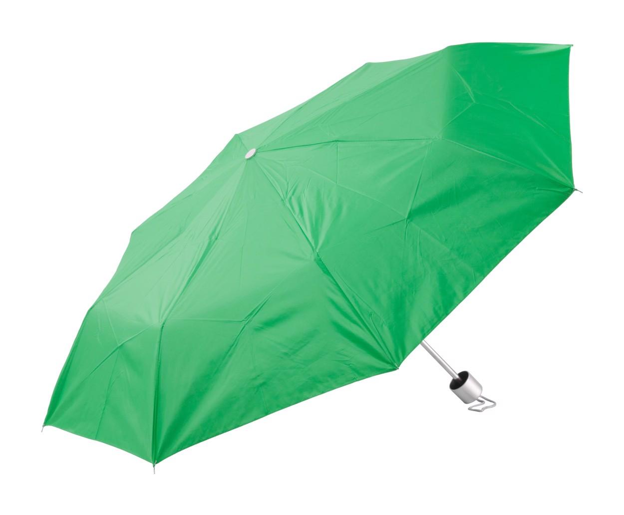 Deštník Susan - Zelená / Stříbrná