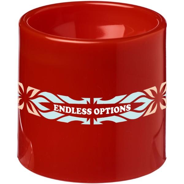 Plastový šálek na vejce Edie - Červená s efektem námrazy
