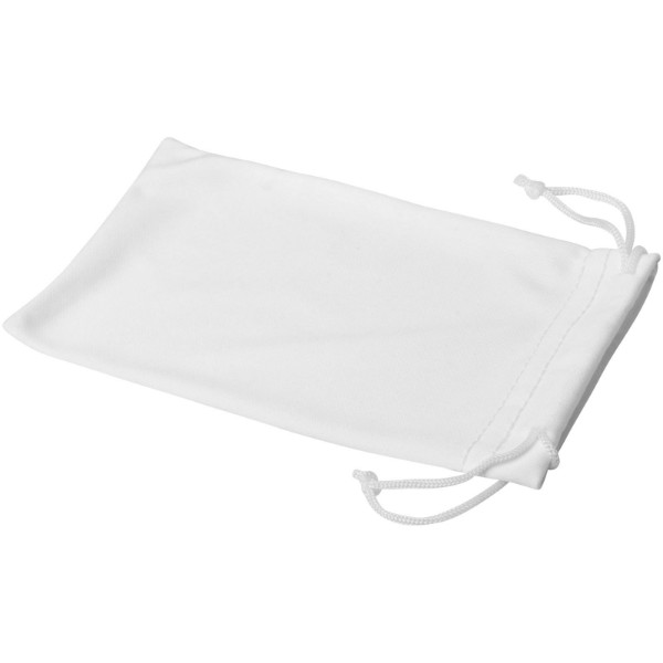Clean microfibre pouch for sunglasses - White