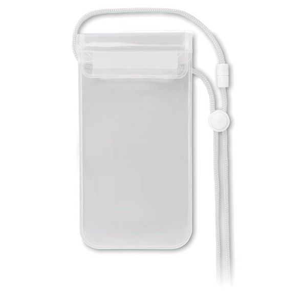 Wodoodporne etui na smartfon Colourpouch - przezroczysty biały