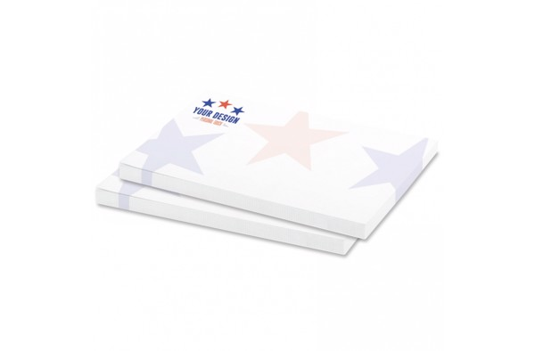 50 adhesive notes, 100x72mm, full-colour