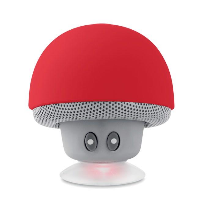 Mushroom 3W wireless speaker - Red
