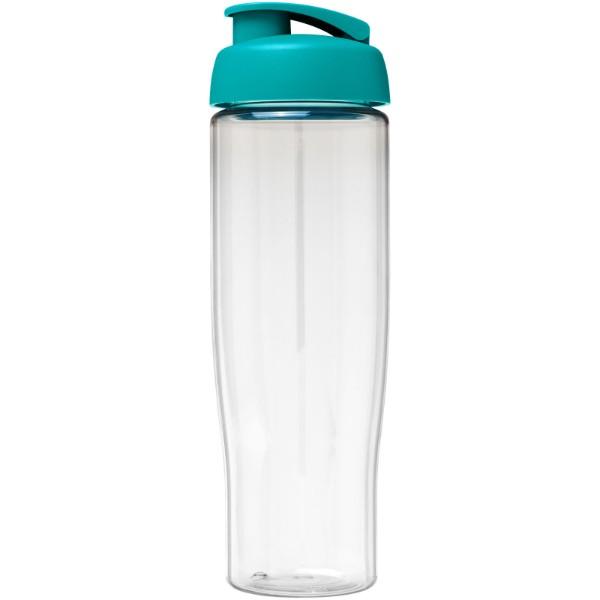 H2O Tempo® Bidón deportivo con Tapa Flip de 700 ml - Transparente / Azul aqua