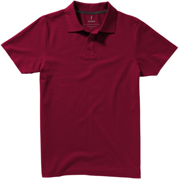 Seller short sleeve men's polo - Burgundy / XXL
