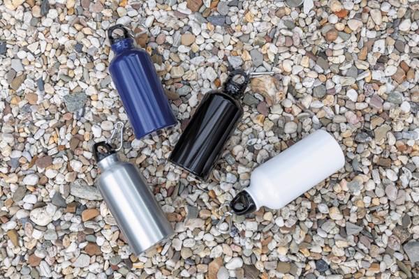 Hliníková sportovní lahev s karabinou - Bílá