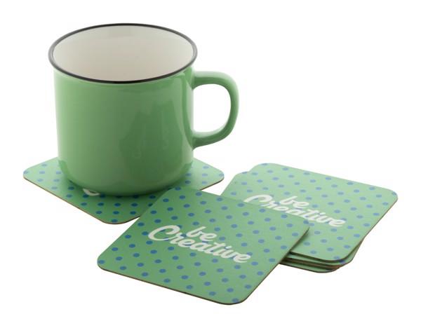 Paper Coaster CreaPint, Square - White