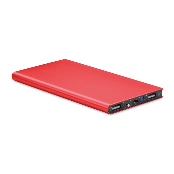 Power banka 8000 mAh Powerflat8 - red