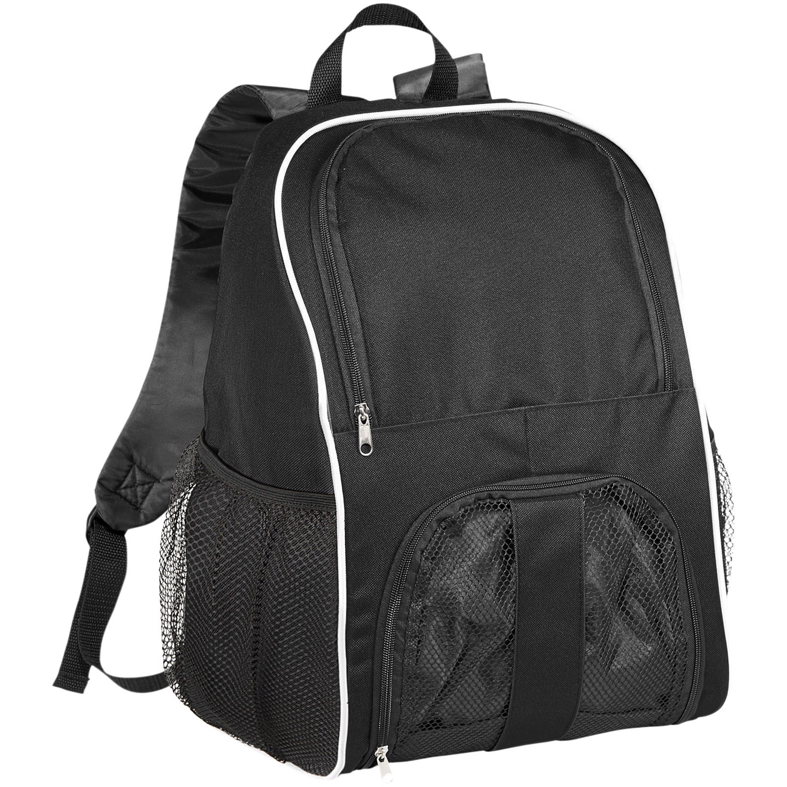 Goal backpack with mesh footbal compartment - Solid black
