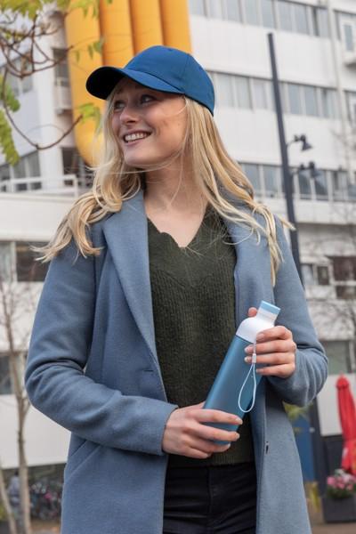6 dílná kšiltovka Impact z 280g recyklované bavlny AWARE™ - Námořní Modř