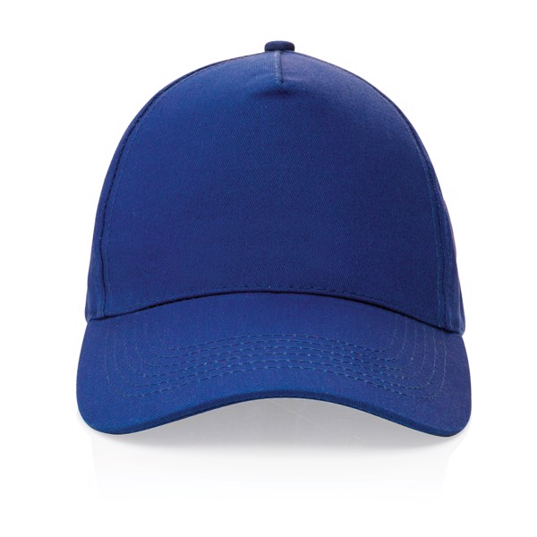 5 dílná kšiltovka Impact ze 190g recyklované bavlny AWARE™ - Modrá