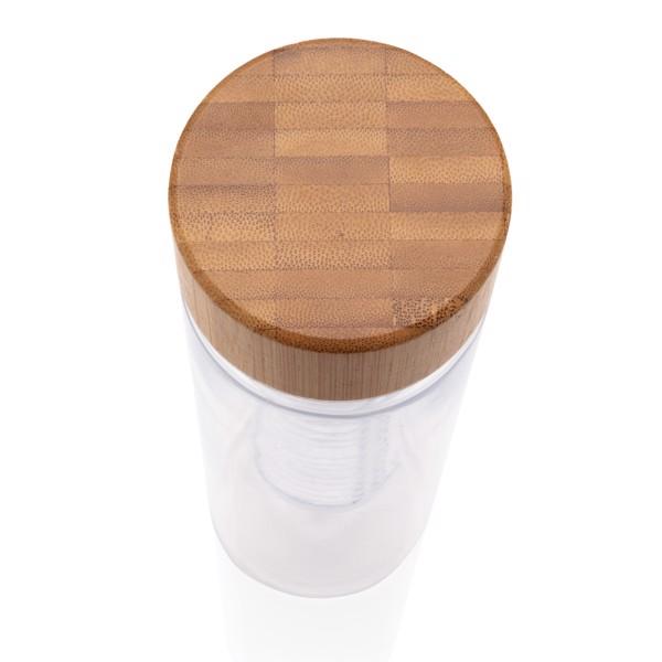 Steklenička z infuzorjem in pokrovom iz bambusa