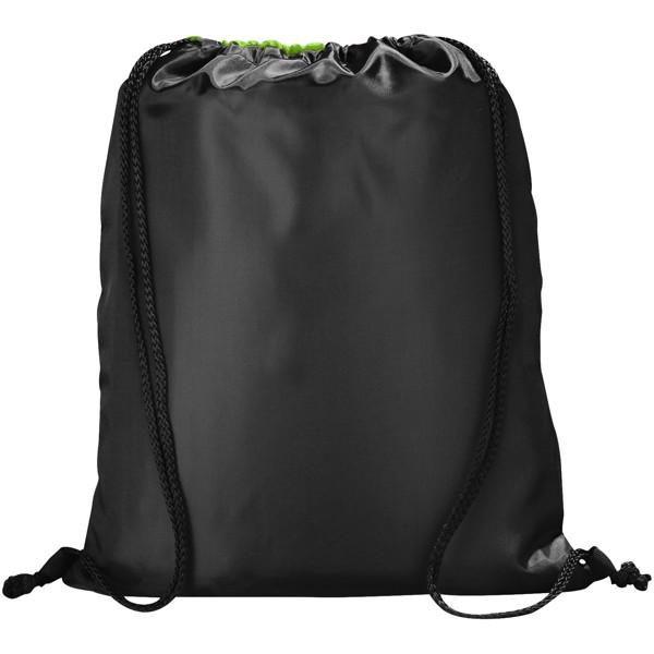 Stahovací batůžek na šňůrku Peek - Limetka / Černá