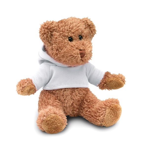Teddy bear plus with t-shirt Johnny - White