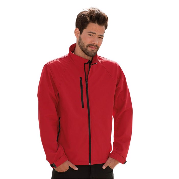 Men's Softshell 340 g/m2 Soft Shell Jacket R-140M-0 - Classic Red / XL