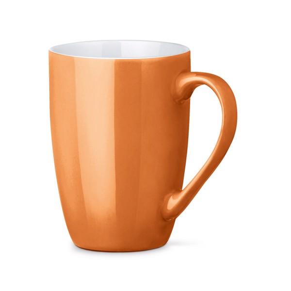 CINANDER. Keramický hrnek 370 ml - Oranžová