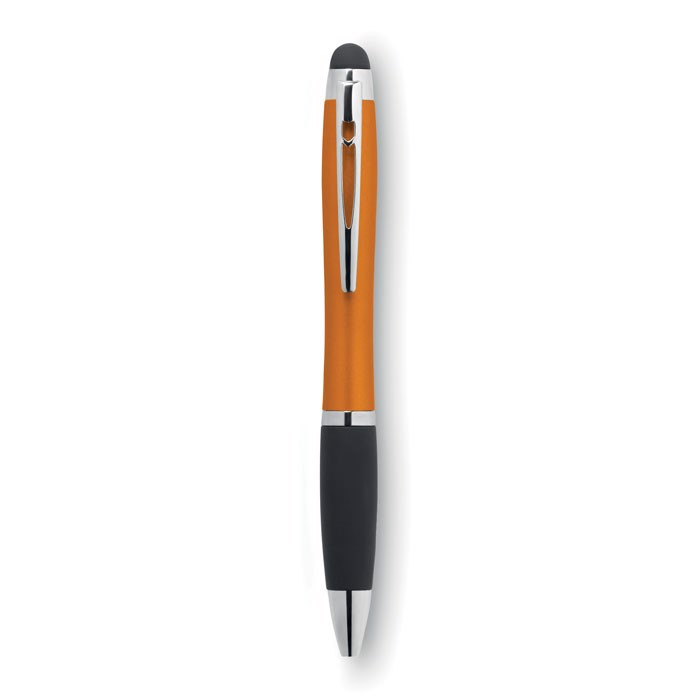 Twist ball pen with light Riolight - Orange