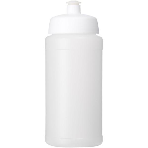 Baseline® Plus grip 500 ml sportovní lahev s víčkem na sport - Průhledná / Bílá