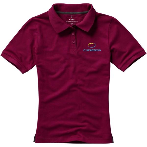 Calgary short sleeve women's polo - Burgundy / XL