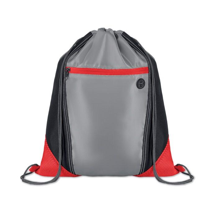 Worek plecak Shoop Grey - czerwony