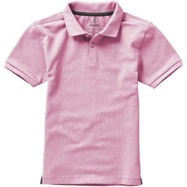 Calgary short sleeve kids polo - Light pink / 152