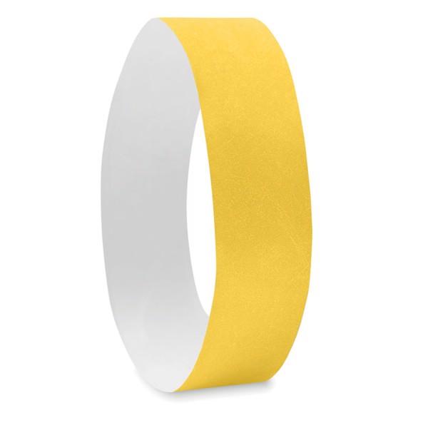 One sheet of 10 wristbands Tyvek - Yellow